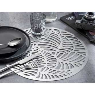 Set de table rond - Diamètre 38 cm - Argent
