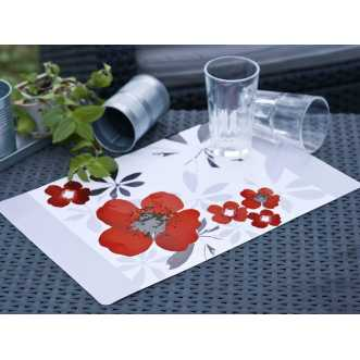 Set de table rectangulaire - 44 x 28,5 cm - Rouge