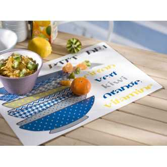 Set de table rectangulaire - 44 x 28,5 cm - Bleu