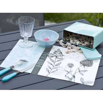 Set de table rectangulaire - 44 x 28,5 cm - Turquoise