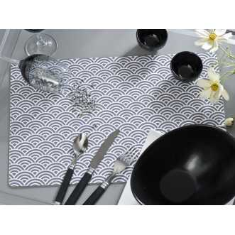 Set de table rectangulaire - 44 x 28,5 cm - Gris