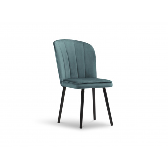 Chaise Velours - Brio - Pétrole - 50 x 65 x 90