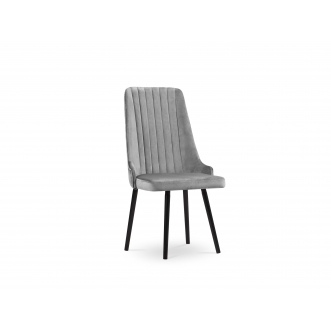 Chaise Velours - Code - Gris Clair - 54,5 x 65 x 100