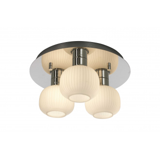 Luminaire - Plafonnier - MESSINA - Chrome - Blanc