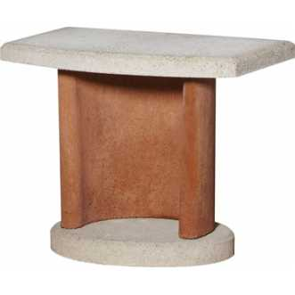 Table pour barbecue - Blanc Terracotta