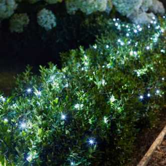 Guirlande solaire - 200 LED blanches